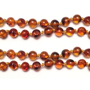 imagen del collar de ambar cognac