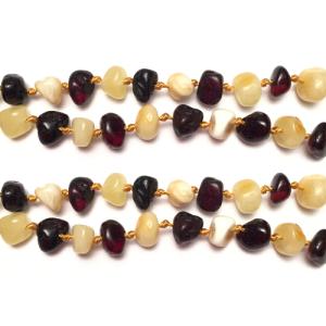 imagen del collar de ámbar duo cherry