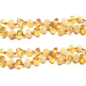 imagen del collar de ámbar duo miel
